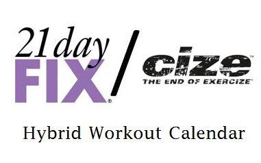 21 Day Fix and Cize Hybrid Calendar
