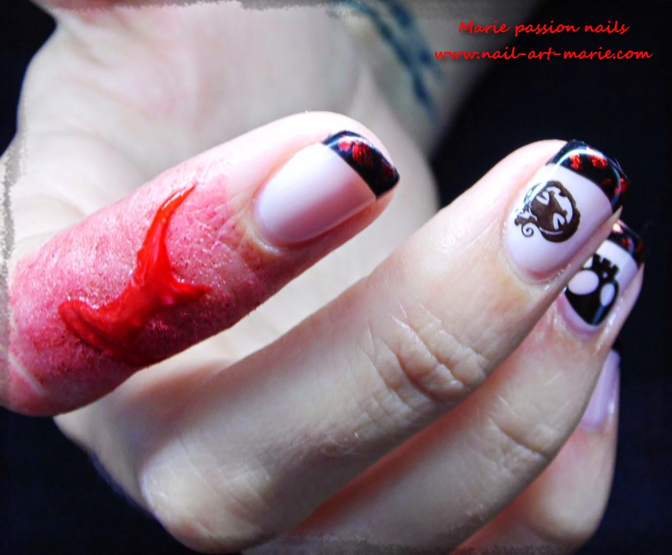 Nail Art d' Halloween en semi-permanent10