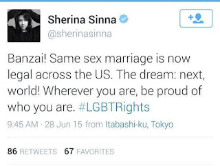 Serina Dukung LGBT