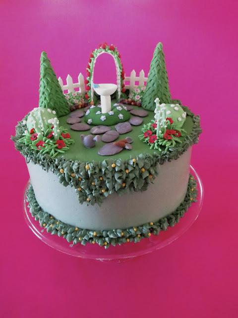 Christina S Kitchen Art English Garden Birthday Cake