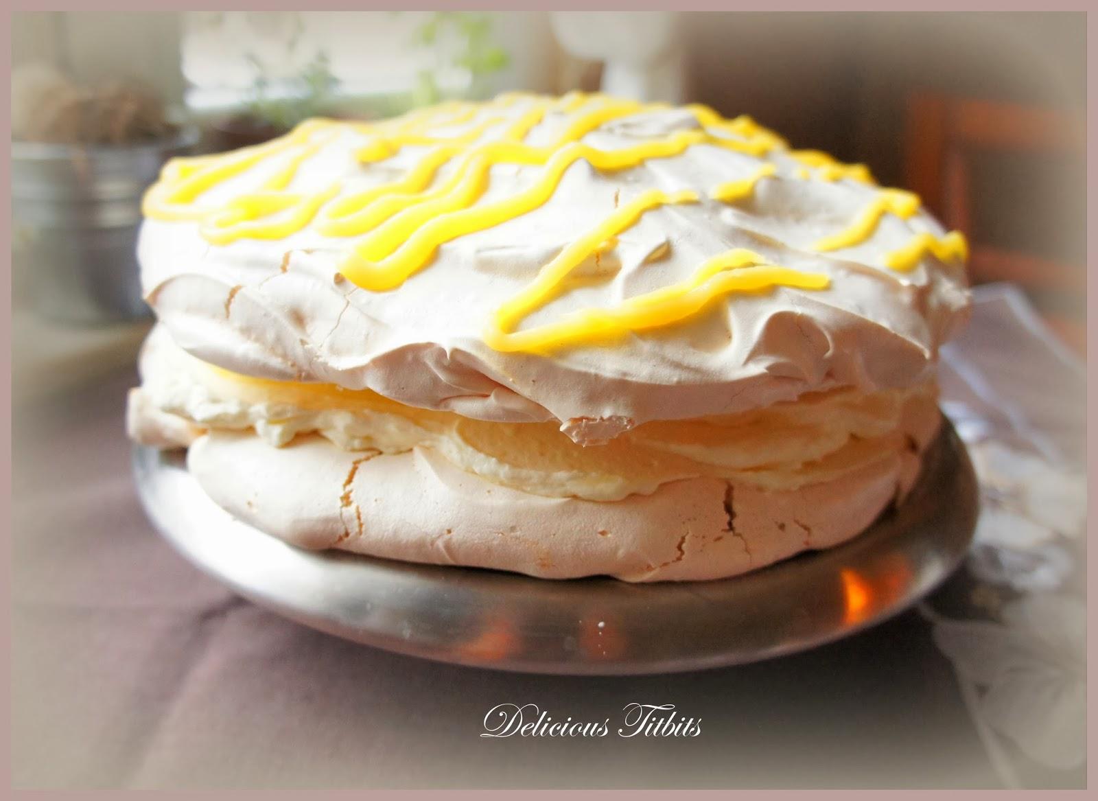 Delicious Titbits Tort Bezowy Z Kremem Cytrynowym Lemon Cream