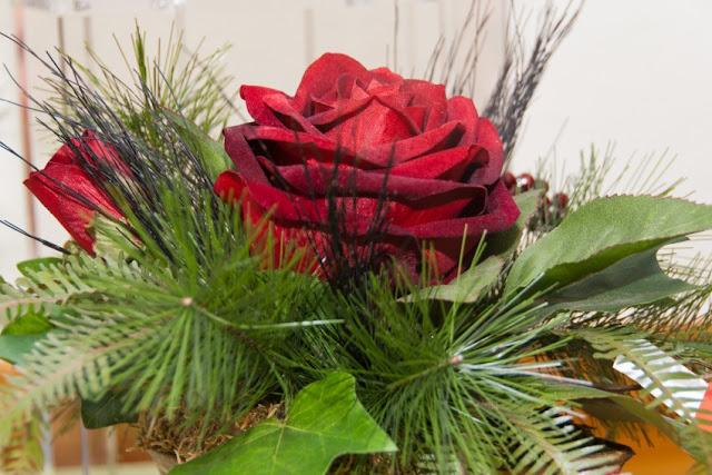Blumen, Kunst, Seide, rot