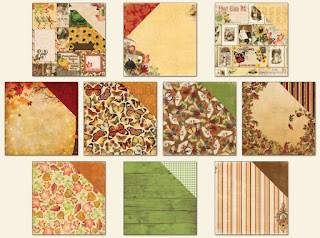 Amy's Amazing Autumn kit Patterned Paper add on
