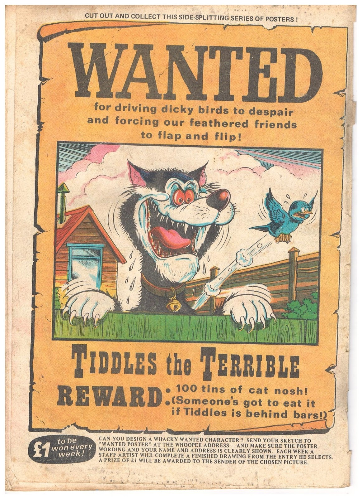 Poster design ks1 - Wanted Poster Examples Checklist Template Word Whoopee Wanted No05 1974 04 06 Tiddles The Terrible Wanted