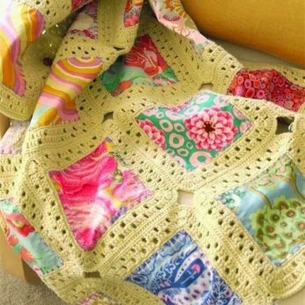 Fabric And Crochet... Kaffe Fusion Blanket Tutorial