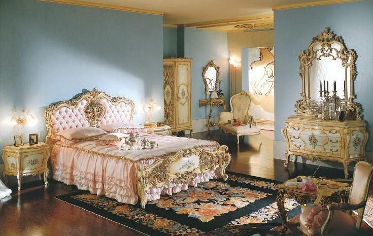 Blue Victorian Bedroom jatmon furniture classic lucxury: bedrooms