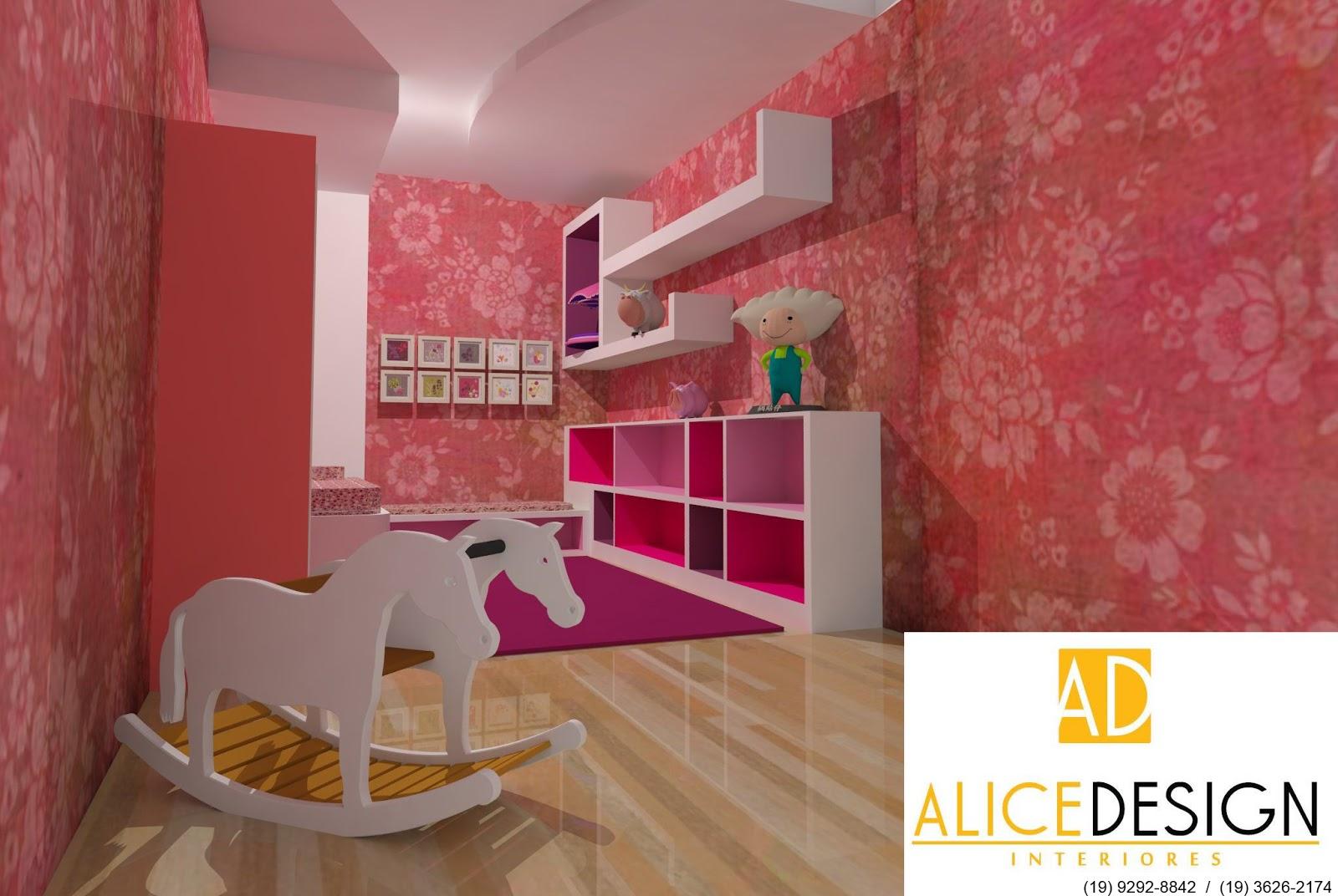 decoracao de interiores de quarto infantilQUARTO INFANTIL – MENINA