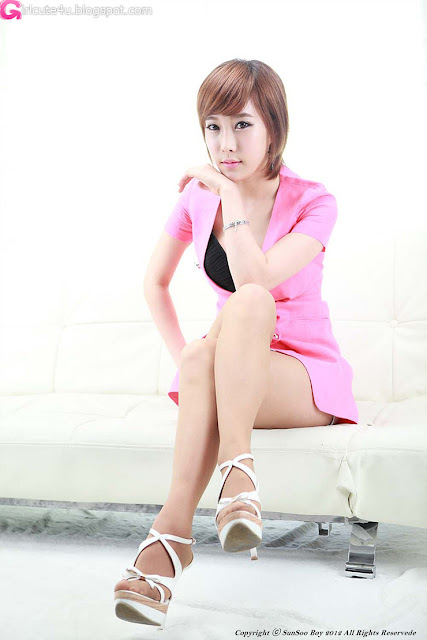 5 Im Min Young in Pink-very cute asian girl-girlcute4u.blogspot.com