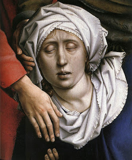 Rogier van der Weyden, (1399/1400-1464): Die Kreuzabnahme, um 1435, Öl auf Holz, 220 x 262 cm, Madrid, Museo de Prado