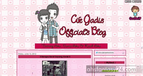 blog cik gadis, blog pink, blog cantik, ieyda achieda, blog perempuan, template ladies