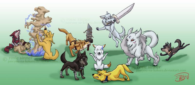 anime wolves. anime wolves pics. chibi anime