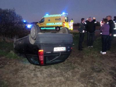 Bilen fra ulykken med Carina Melchior