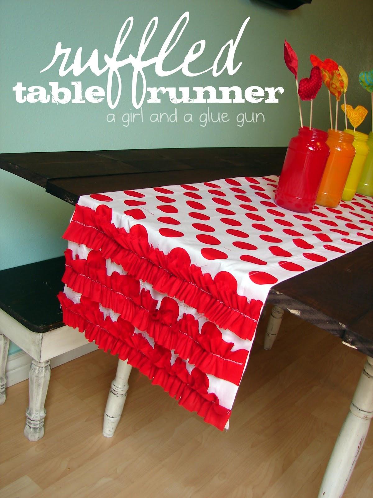 Ruffled Table Runner