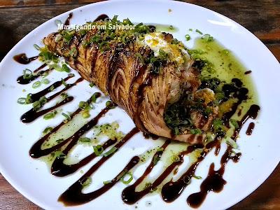 Lon Hu Restaurante: Temaki Especial Maçaricado Ebi