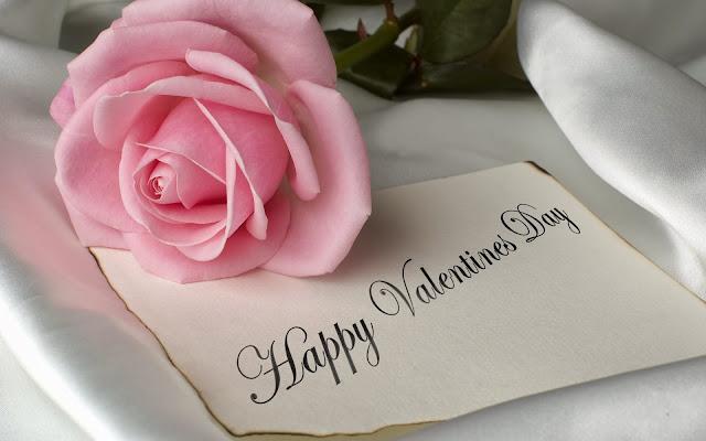 Happy Valentine's Day Pink Flowers