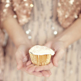 Sparkly Cupcake for New Year's Eve