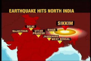 Earthquake in India and Sikkim