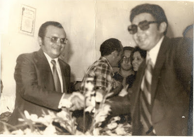 Amaro José de Araújo e Naldinho, então Presidente do Sindicato de Panelas PE.