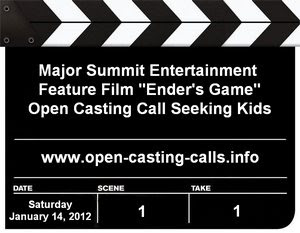 Enders Game Open Casting Call New Orleans