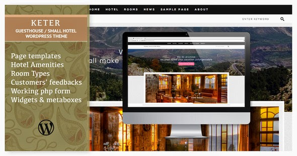 Keter Simple and Clean Hotel Guesthouse WP Theme