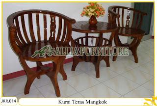 Kursi Teras Rumah & Meja Ukiran Mangkok kayu jati