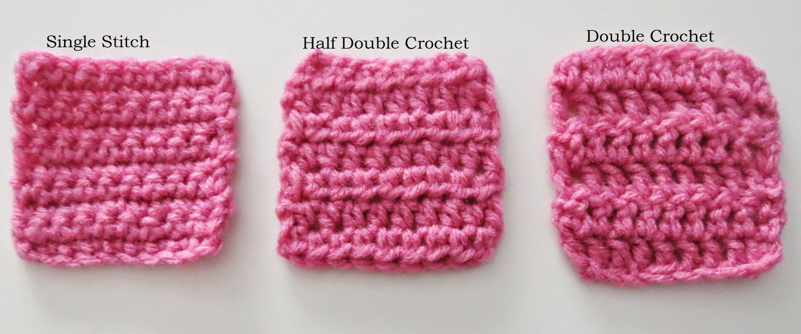 Crocheting Double Stitch : Crochet Stitches: Single stitch (SS), half-double (HDC), and double ...