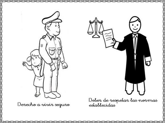 Imagenes para colorear de los derechos y obligaciones de los niños ...