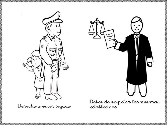 Derechos y obligaciones de los niños dibujos para colorear - Imagui