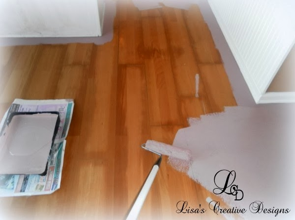 Diy why spend more painting laminate floors for Can you paint over vinyl flooring