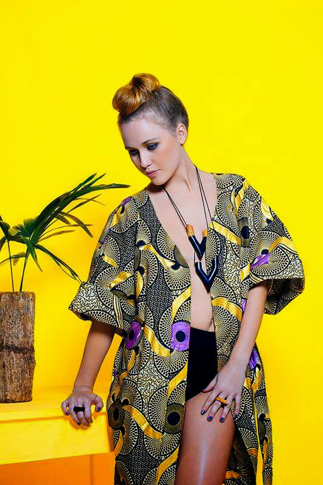 Tanzanian label Nyumbani design #ankara  #African print kimono.Check out more on ciaafrique.com
