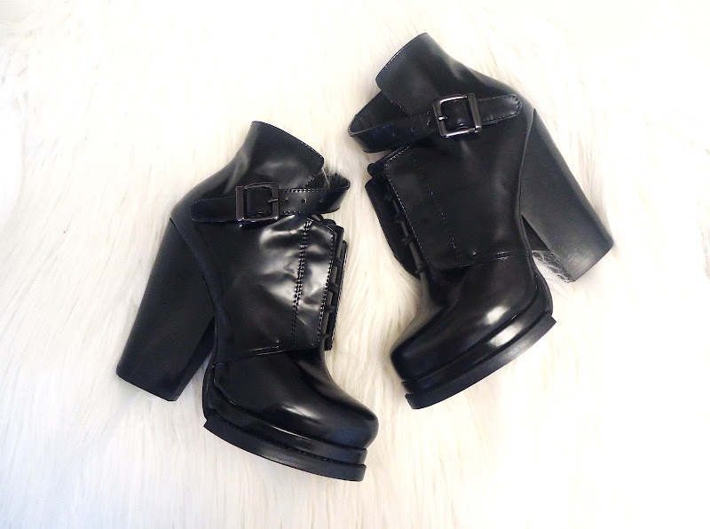 buckled black winter boots, Zara alikes, fall 2012