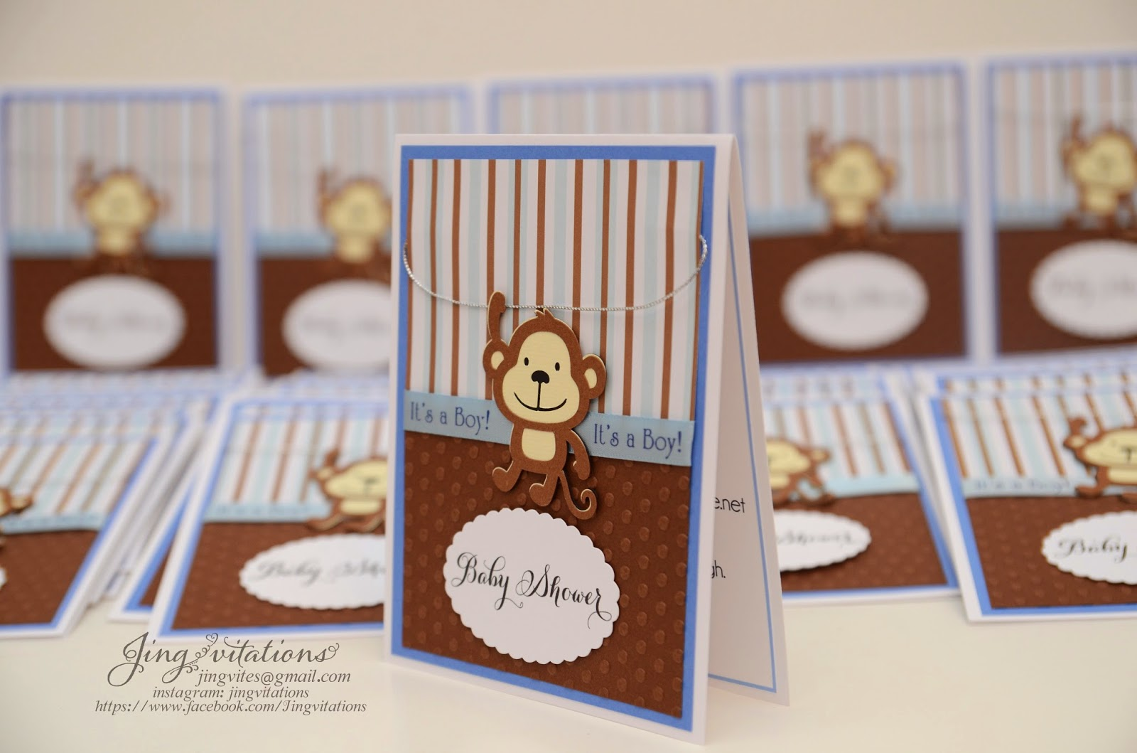 handmade baby shower invitations