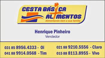 Cesta Básica Henrique Pinheiro