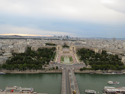 Trocadero site of the Palais de Chaillot view from The Eiffel Tower, La Tour Eiffel, Paris, France www.thebrighterwriter.blogspot.com