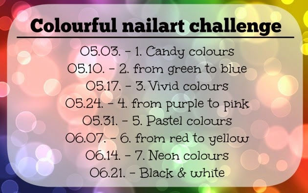 Colourful nailart challenge