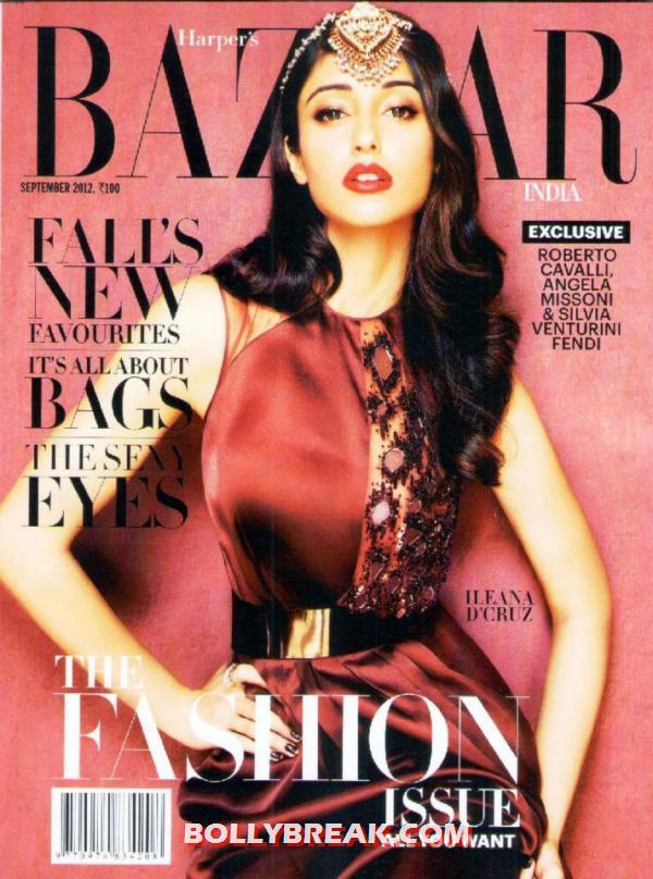 , Ileana D'cruz Harper's Bazaar Cover Scan
