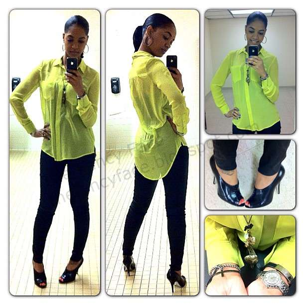 Neon Green Button Down Shirt Custom Shirt