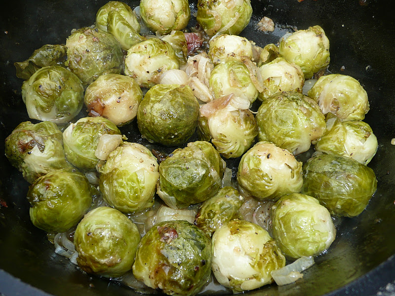 Everyday Dutch Oven: Maple Mustard Glazed Brussels Sprouts