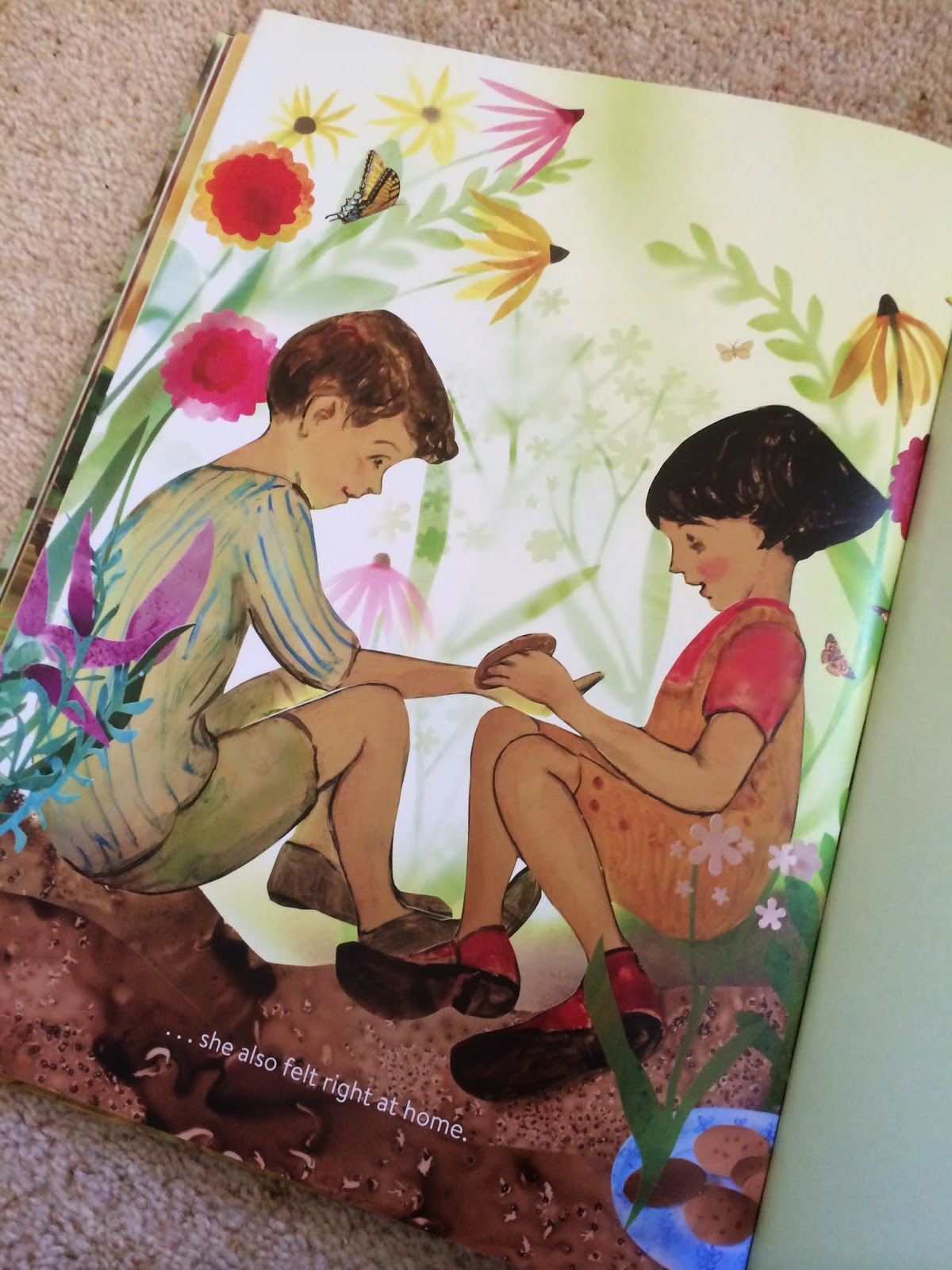 Illustration from Butterfly Park by Elly MacKay
