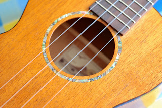 Islander MST-4 ukulele soundhole decoration