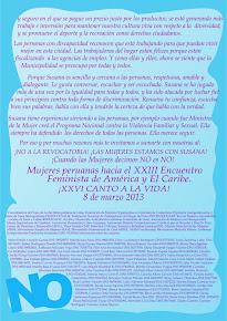 Carta de Mujer a Mujer
