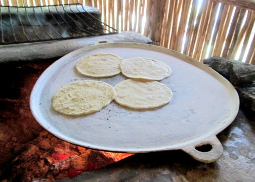 Corn tortillas are a staple of the modern Maya diet. Our tortillas were cooked on an open-air stove, which is the typical method of cooking at the village. The flavor and texture is a little different than those we buy here at the store, but Tessa loved them. I think she ate six-to-eight of them.