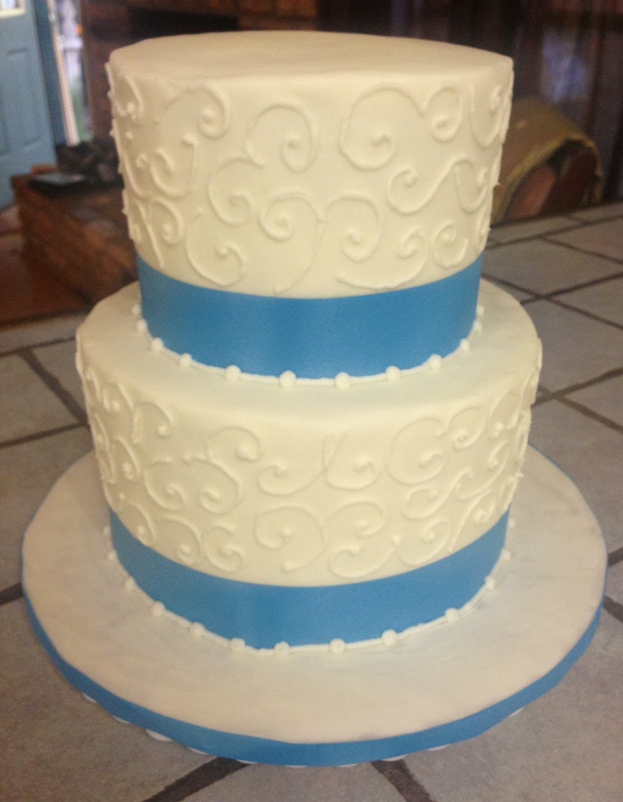 Cakes by Mindy: 2 Tiered Wedding Cake 6\