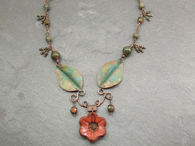 crossvine necklace by Libellula Jewelry