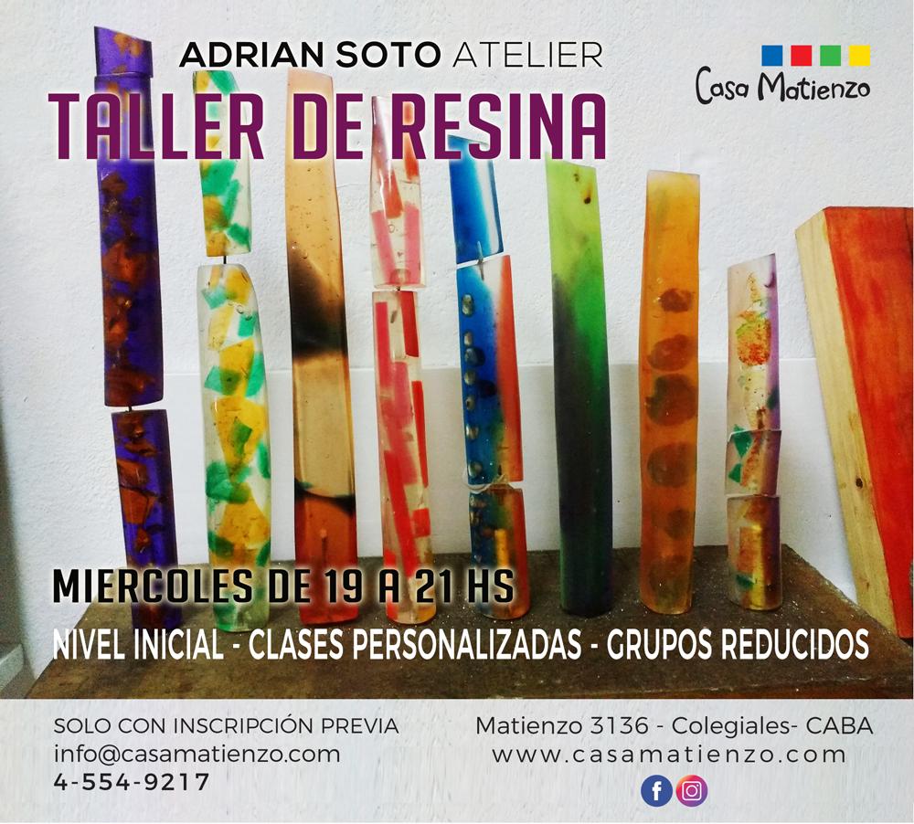 TALLER DE RESINA por Adrian Soto Atelier