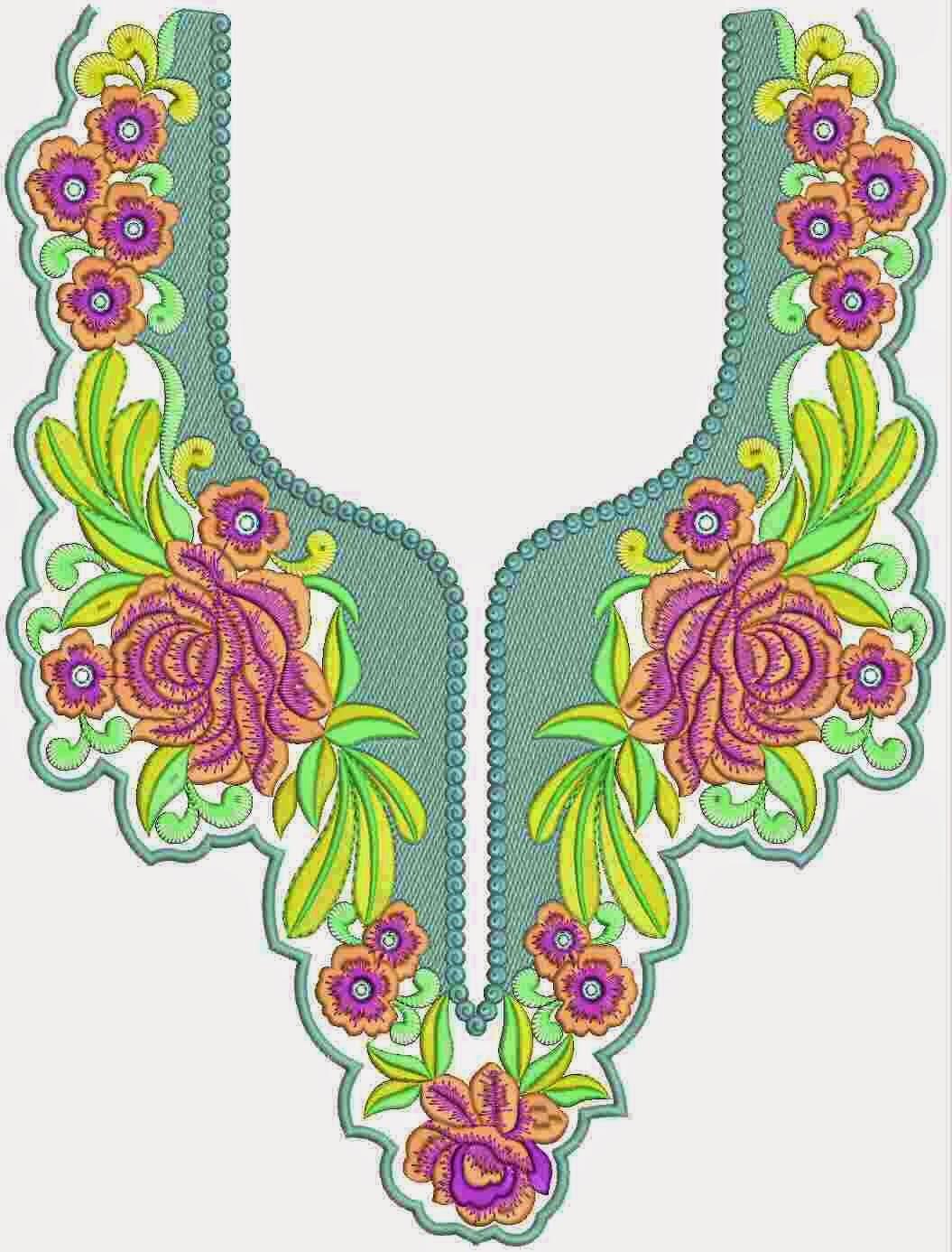 Embdesigntube religious clothing neck embroidery designs