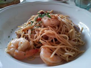 prawn and brinjal pasta
