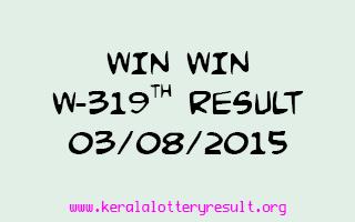 WIN WIN W 319 Lottery Result 3-8-2015