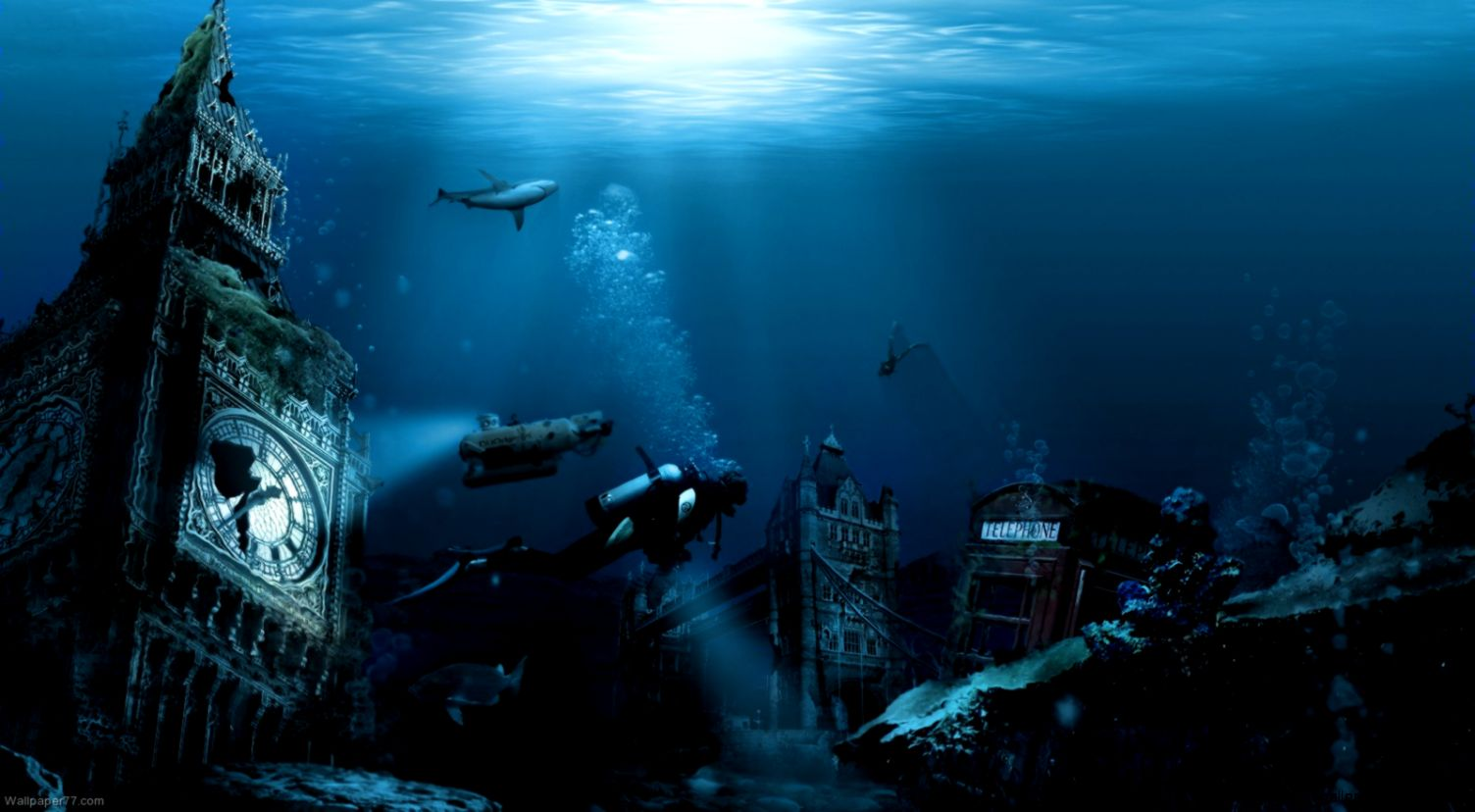 Undersea City 1600x900 pixels  Wallpapers tagged Ocean sea