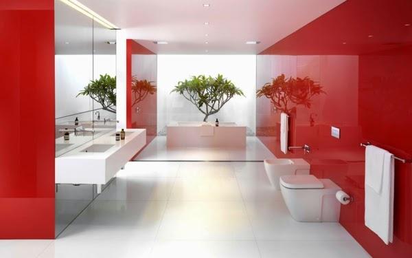 Baño De Color Tinte Rojo:Diseños de baños en color rojo – Colores en Casa